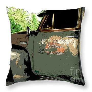 Weld County Customs Throw Pillow by Guy Harnett