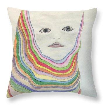 The Masks Throw Pillow