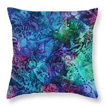 Throw Pillow featuring the painting Bikini Bottom by Pat Purdy