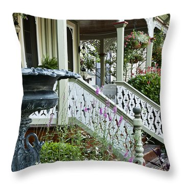 Cape May Victorian Throw Pillow by John Greim