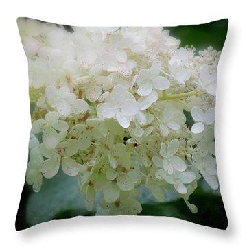 Hydrangea Throw Pillow by France Laliberte