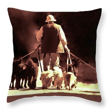 I Love This Job Throw Pillow by Margaret Bobb