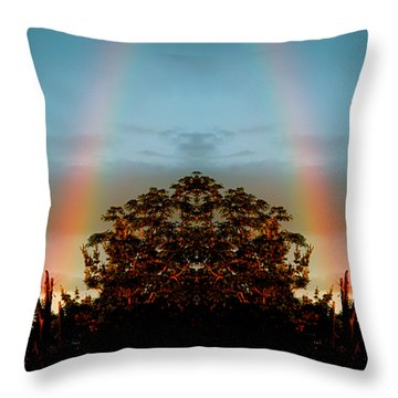 The Rainbow Effect Throw Pillow by Sue Stefanowicz