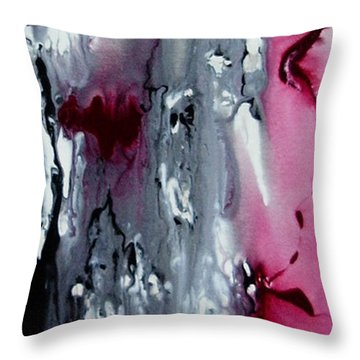 Throw Pillow featuring the painting Where My Heart Is by Pat Purdy