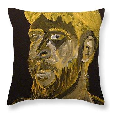 Self Portrait Throw Pillow by Joshua Redman