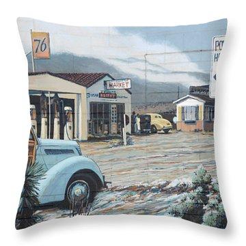 29 Palms Flood Mural Throw Pillow by Bob Christopher