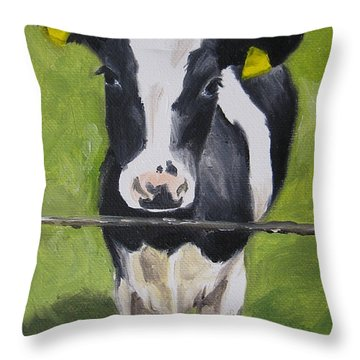 A Heifer Throw Pillow