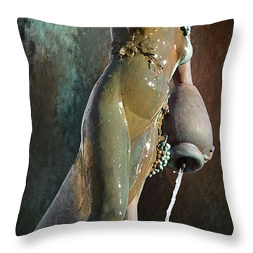 Abundance Statue Throw Pillow