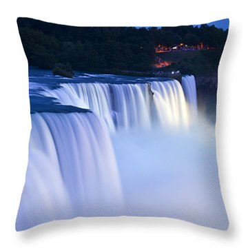 American Falls Niagara Falls Throw Pillow by Loriannah Hespe