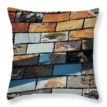 Animals In The Attic Throw Pillow by Robert Meanor