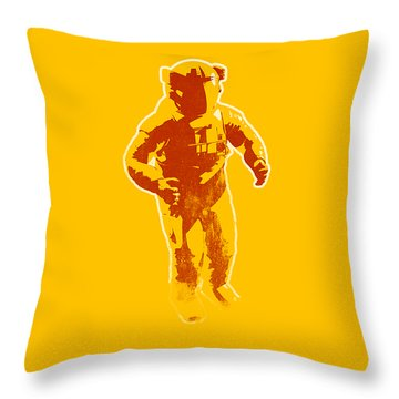 Astronaut Graphic Throw Pillow by Pixel Chimp