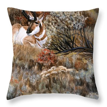 Autumn Splendor Throw Pillow by Sheri Gordon