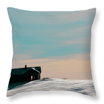 Baby Blue Throw Pillow by Empty Wall