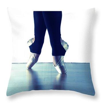Ballet Feet 1 Throw Pillow by Scott Sawyer