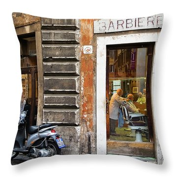 Barbiere Throw Pillow