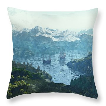 Beautiful Nature Throw Pillow by Jutta Maria Pusl