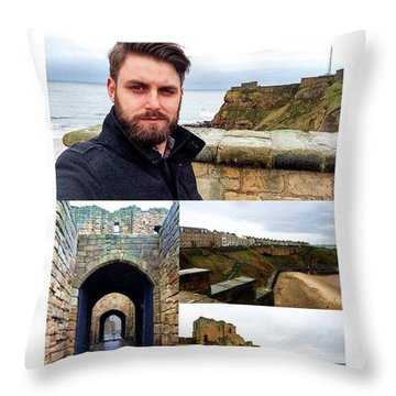 Beautiful Views Of The North Sea And Throw Pillow
