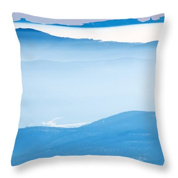 Blue Haze Throw Pillow by Evgeni Dinev