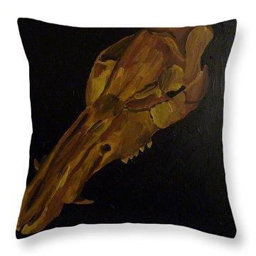 Boar's Skull No. 3 Throw Pillow by Joshua Redman