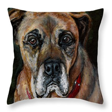 Boo For Dogtown Throw Pillow by Mary-Lee Sanders