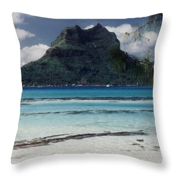 Throw Pillow featuring the photograph Bora Bora by Mary-Lee Sanders