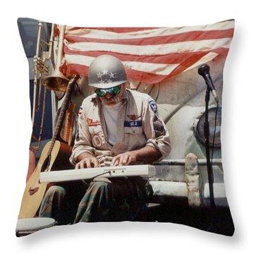 Throw Pillow featuring the photograph Born In The Usa by Mary-Lee Sanders