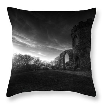 Bradgate Park At Dusk Throw Pillow