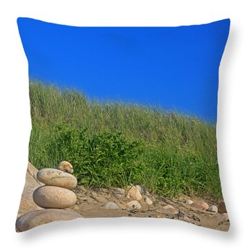 Cairn Dunes And Moon Throw Pillow