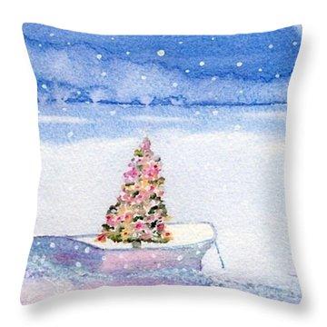 Cape Cod Christmas Tree Throw Pillow by Joseph Gallant