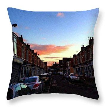 Cartoon Skies Over Middlesbrough Today Throw Pillow