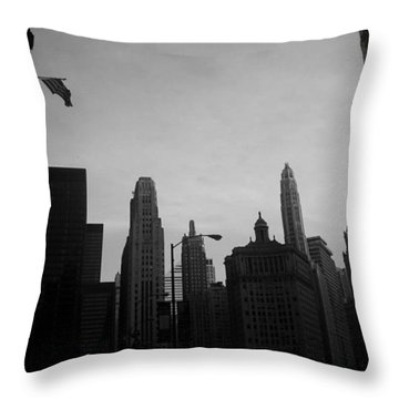 Chicago 3 Throw Pillow