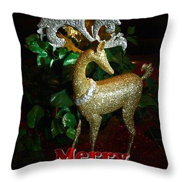 Christmas Card Throw Pillow by Chris Brannen