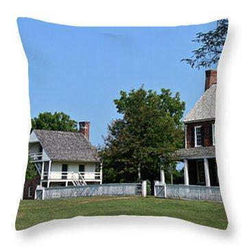 Clover Hill Tavern Appomattox Court House Virginia Throw Pillow by Teresa Mucha