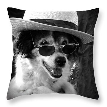 Cool Dog  Throw Pillow
