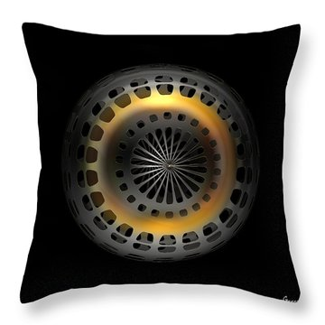 Cosmic Tire Throw Pillow by Julie Grace