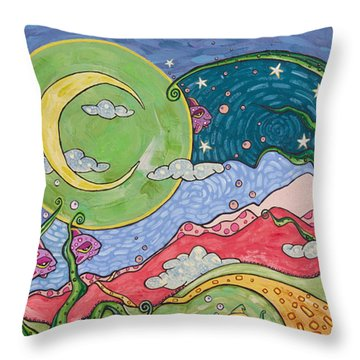 Daydreaming Throw Pillow by Tanielle Childers