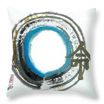 Destiny In Zen Throw Pillow by Ellen Miffitt