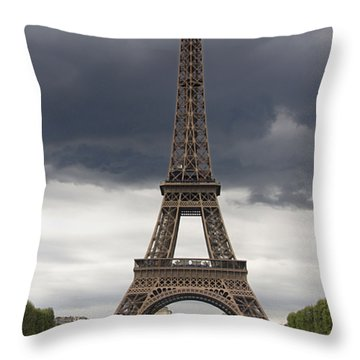 Eiffel Tower. Paris Throw Pillow by Bernard Jaubert