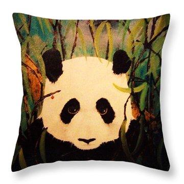 Endangered Panda Throw Pillow