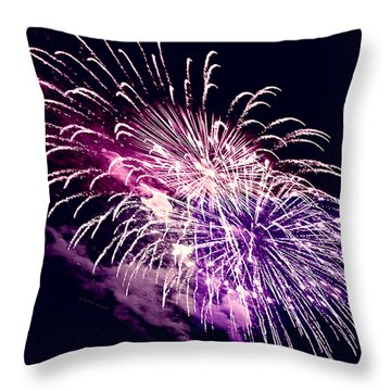 Exploding Stars Throw Pillow by DigiArt Diaries by Vicky B Fuller