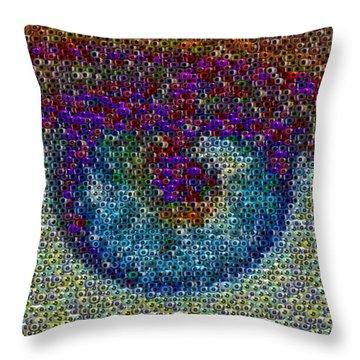 Eyeball Mosaic Throw Pillow by Paul Van Scott