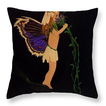 Fairy Girl Throw Pillow