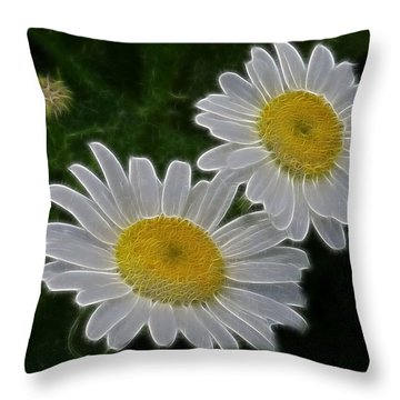 Field Daisies Throw Pillow by Julie Grace