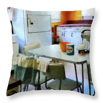 Fifties Kitchen Throw Pillow