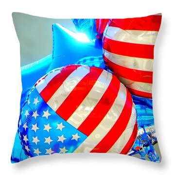 Floating Colors Throw Pillow