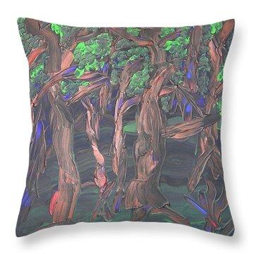 Forest Throw Pillow by Joshua Redman