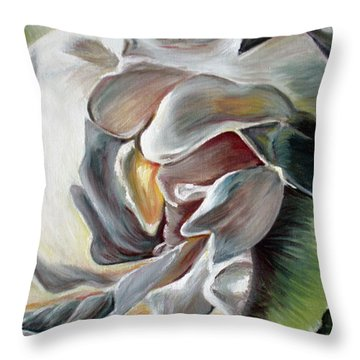 Gardenia II Throw Pillow by Tatjana Popovska