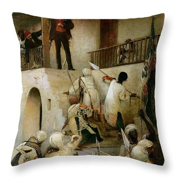 General Gordon's Last Stand Throw Pillow by George William Joy