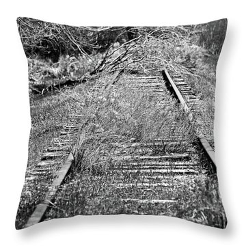 Throw Pillow featuring the photograph Ghost Rail by Juls Adams