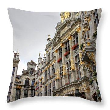 Golden Grand Place Throw Pillow by Carol Groenen